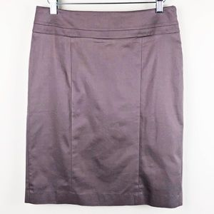 LOFT✨NWT Purple Knee Length Pencil Skirt sz 6